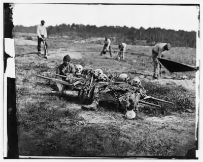 2294 - Cold Harbor, Va. African Americans collecting bones of soldiers killed in the battle › Page 1 - Fold3.com