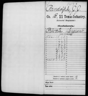 Civil War Service Record Pg.1