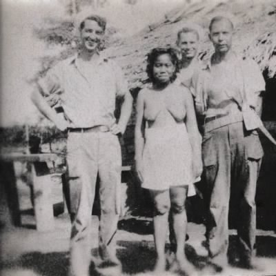Bill and 2 other Navy men with Phillipino woman - Fold3.com