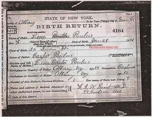 Lena Paulus birth certif.