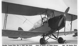 The TIGER MOTH that Ogden Gorman and Jim Bugbee Trained in up in Canada, 1941