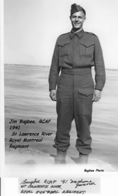 Jim Bugbee in CANADA in the RCAF  1941