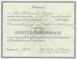 Thomas E. Leach & Catherine M. Burcaw marriage