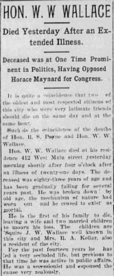 Washington Wayne Wallace 1896 Obit.jpg