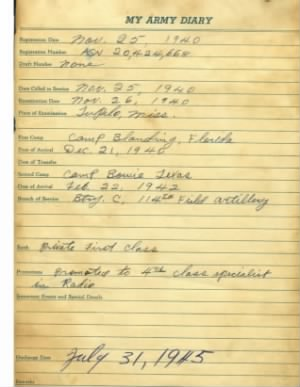 Winfred Noah Turner's Army Diary  Information.jpg