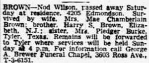 Nod W. Brown 1947 Death Notice.JPG