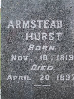 Pvt Armstead A Hurst Army Headstone