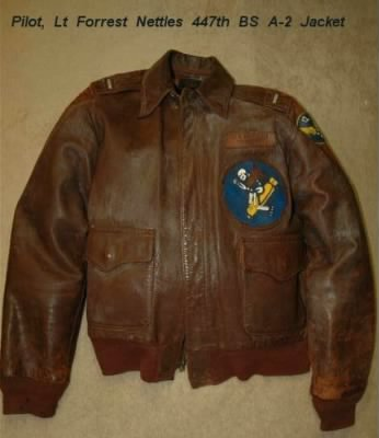 Forrest Nettles A-2 Jacket from the War Theatre in the Mediterranean. 1944 - Fold3.com