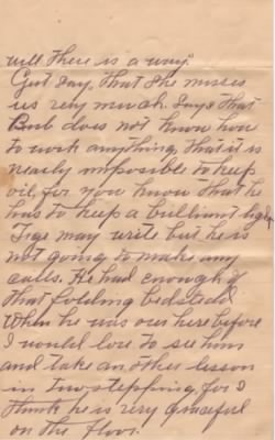 Letter from Dolph Barker to Lois Link dated 9 Jun 1909 - Pg4