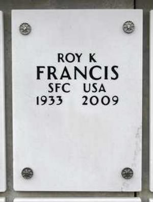 Roy Kenneth Francis 1933-2009