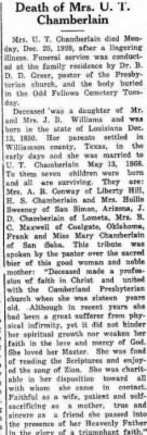 Frances Williamson Chamberlain 1920 Obit.JPG