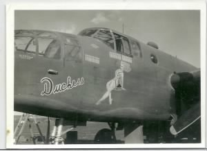 #42-64520, The DUTCHESS B-25 flown most by Lt burton Russell 321st BG, 446th BS, MTO