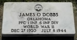 James O Dobbs Military marker
