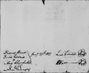 Mary Chamberlain Lewis Edwards 1807 Marriage Bond Rec.jpg