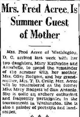 Mary Isabelle Rodgers Acree 1937 to Mother in TX.JPG
