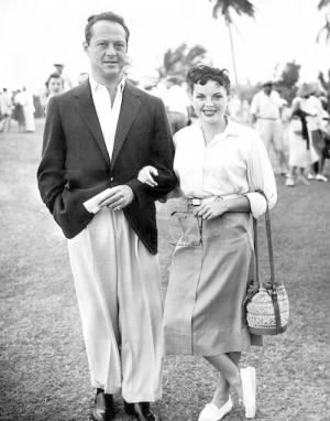 Sid Luft and wife Judy Garland