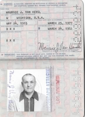 Passport and picture of Maurice Joseph Vanhevel - Fold3.com