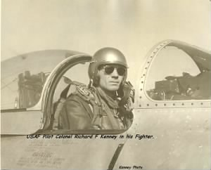 Col. Dick Kenney in his Jet Fighter