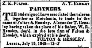 Alexander Thompson Hensley 1850 Replaces Deceased Father in Firm.JPG