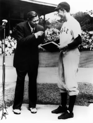 George H. W. Bush and Babe Ruth