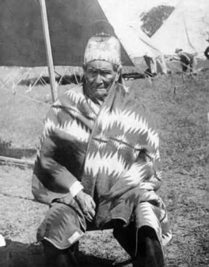 Geronimo as a prisoner of war, 1905