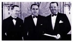 Hal Roach with Laurel & Hardy