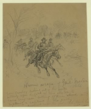 Narrow escape of Genl. Meade 1864.jpg