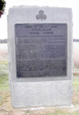 Army of the Potomac Second Corps Second Division Monument at Gettysburg