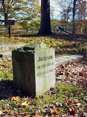 Stonewall Jackson Command Post Monument at Fredericksburg - Fold3.com