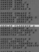 Haslam, Clarence D