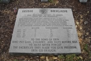 Irish Brigade Tablet at Fredericksburg