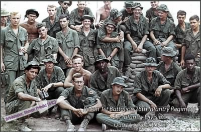 Recon Unit, 1st Battalion, 28th Infantry Regiment, 1st Infantry Division 1968 - Fold3.com
