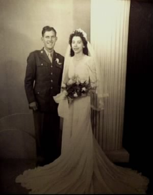 Wedding Photo Of Clinton and Mary Tibbetts