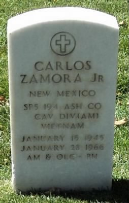 SP5 Zamora, Carlos Jr. Headstone