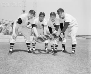 George Kell, Luis Aparicio, Nelson Fox, and Walt Dropo.jpg