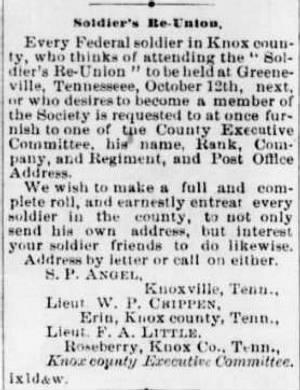 Frank A. Little 1875 Notice re Fed Soldier Mtg.JPG