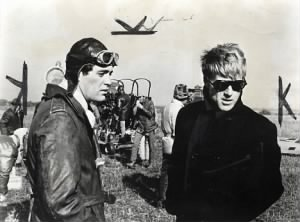 Scot with Robert Redford on the set of The Great Waldo Pepper.jpg