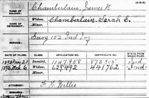 James N Chamberlain IN Civ War Pension Card.jpg