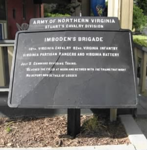 Marker for Imboden's Brigade in Cashtown.png