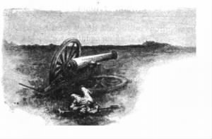 An 1889 illustration of Pelham's death at Kelly's Ford..PNG