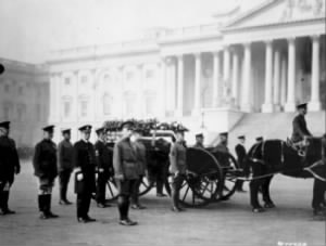 Procession to Arlington for the Unknown Soldier of World War I.  Among the pall bearers were WWI Medal of Honor recipients Samuel Woodfill and Ernest Janson..jpg