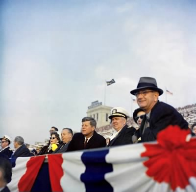 JFK LBJ and George Anderson at Army Navy game 1962.jpg - Fold3.com