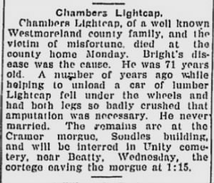 Chambers Lightcap 1909 Death Notice.jpg