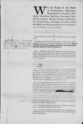 First Printed Draft of the Constitution