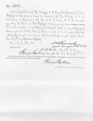1865 Parole of Honor
