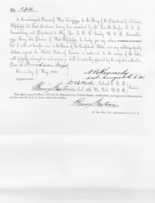 1865 Parole of Honor - Fold3.com