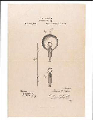 1880 - Patent for the Light Bulb › Page 1 - Fold3.com