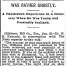 """Was Rather Ghostly"""