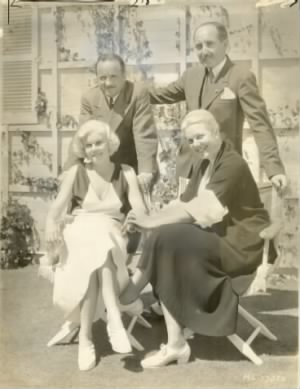 Jean Harlow, husband Harold Rosson. Stepfather Marino Bello and mother Jean.jpg