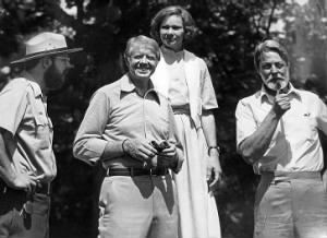 Jimmy Carter, First Lady Rosalynn Carter, and author Shelby Foote..jpg